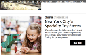 Image of child playing toy next to teaser text for story